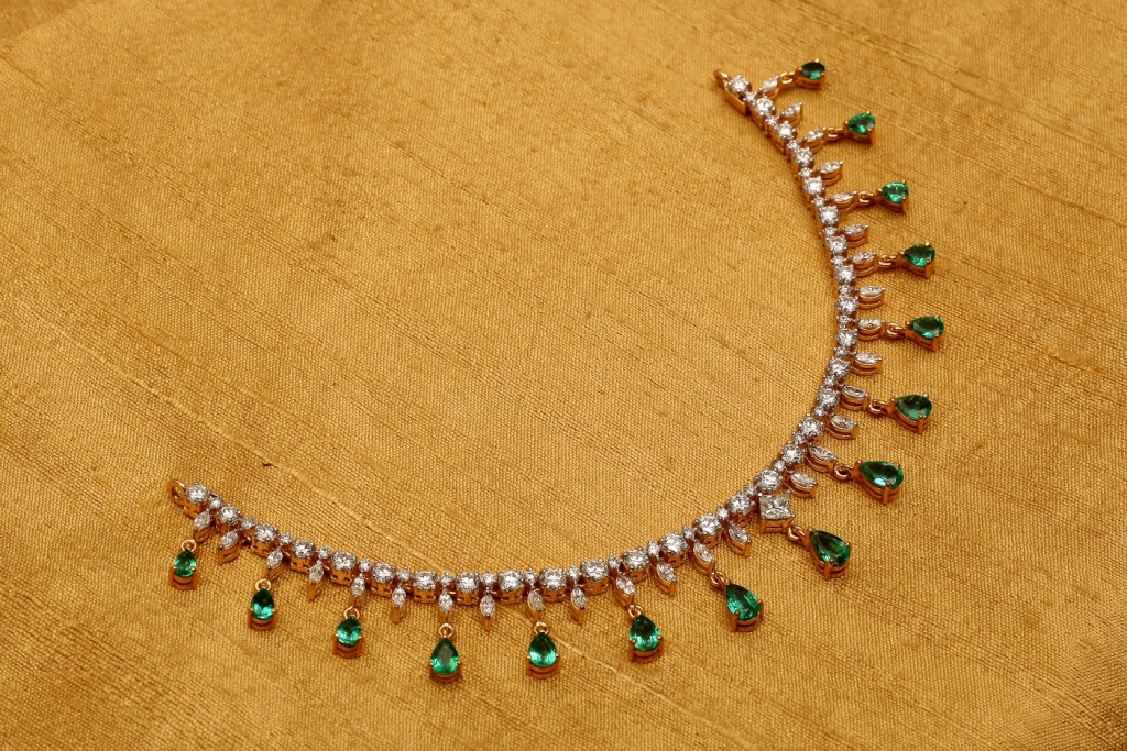 Shop and Buy Diamond Necklaces Online from KMCL, the Diamond Jewellers in Chennai